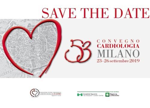 SAVE THE DATE - 53°  CONVEGNO CARDIOLOGIA