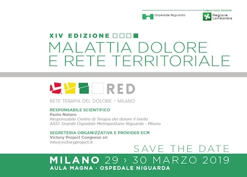 SAVE THE DATE                                                                       Malattie, dolore e rete territoriale