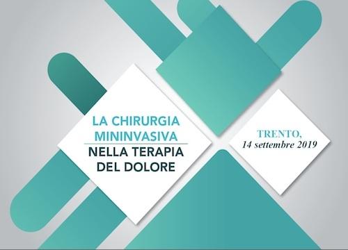 SAVE THE DATE - LA CHIRURGIA MININVASIVA NELLA TERAPIA DEL DOLORE