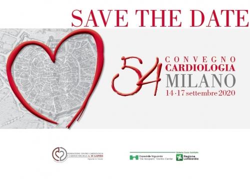 SAVE THE DATE -  54 CONVEGNO CARDIOLOGIA